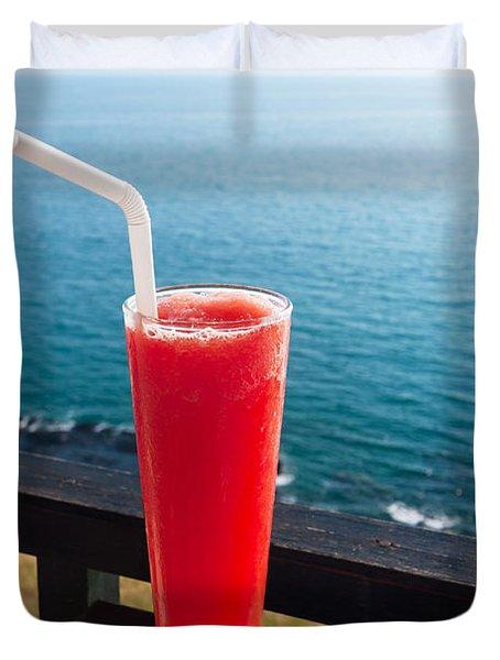 Strawberry Smoothie Soda Duvet Cover
