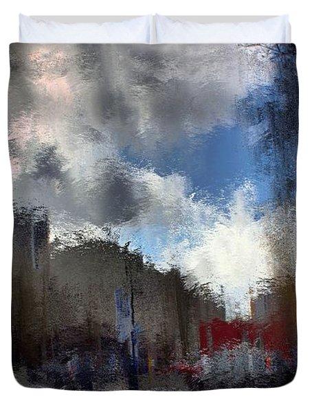 Streetlights 2 Duvet Cover by Terence Morrissey