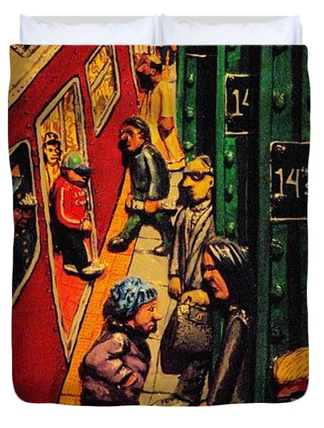 Subway Duvet Cover by Rob Hans