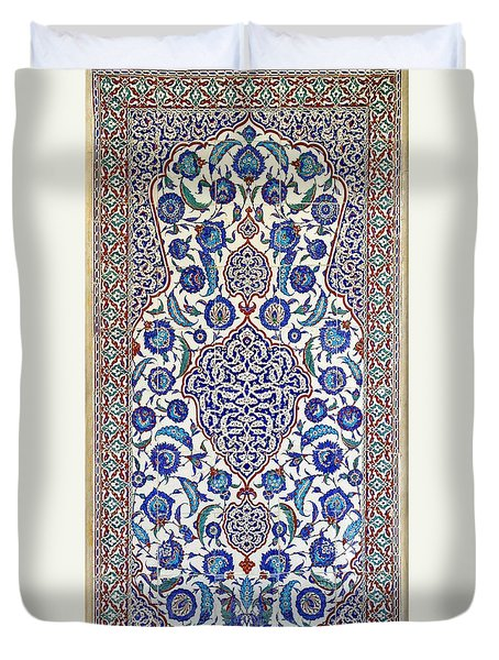 Sultan Selim II Tomb 16th Century Hand Painted Wall Tiles Duvet Cover