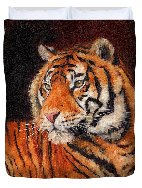 Sumatran Tiger  Duvet Cover by David Stribbling