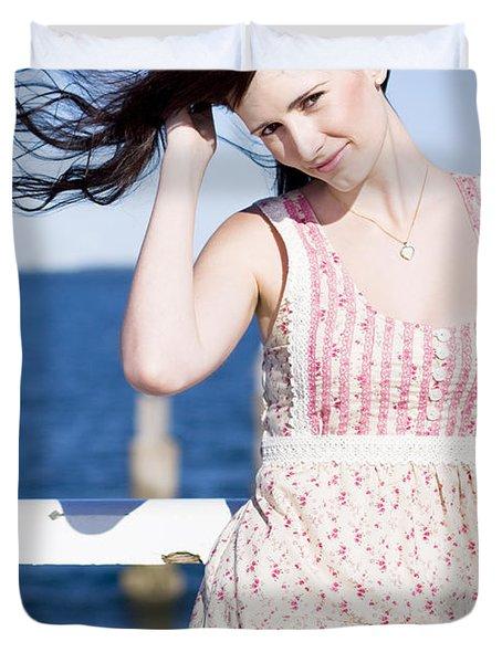 Summer Breeze Woman Duvet Cover