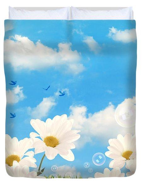 Summer Daisies Duvet Cover by Amanda Elwell