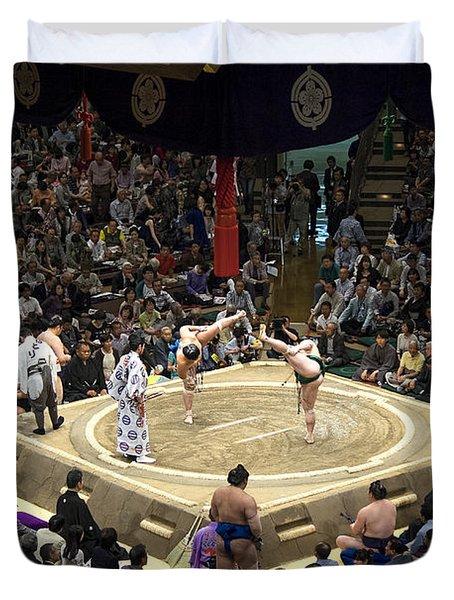 Sumo Summer Tournament 2014 Tokyo Duvet Cover