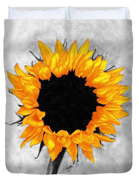 Duvet Cover featuring the photograph Sun Fire 2 by I'ina Van Lawick