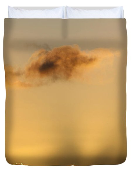 Sun Rays And Dark Clouds Duvet Cover