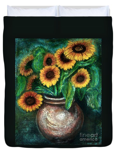 Sunflowers Duvet Cover by Jasna Dragun