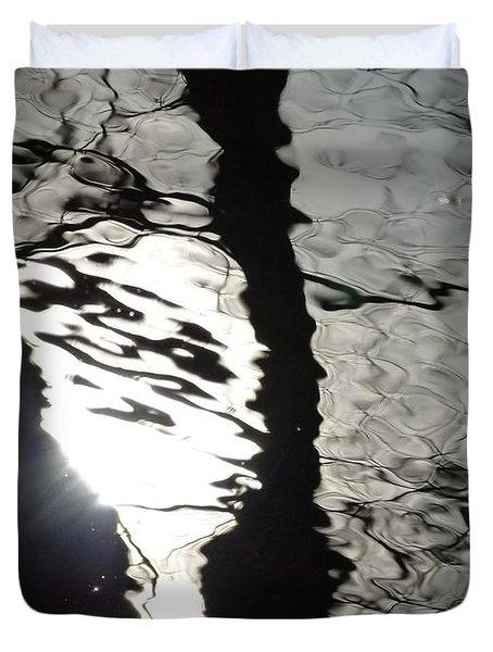 Duvet Cover featuring the photograph Sunlight On Water by Jane Ford
