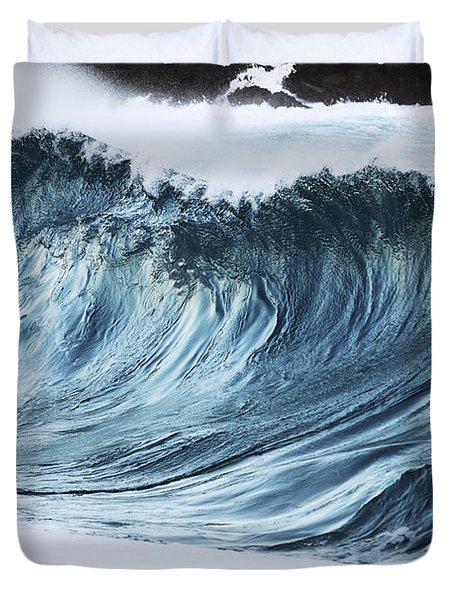 Sunlit Wave Duvet Cover by Vince Cavataio
