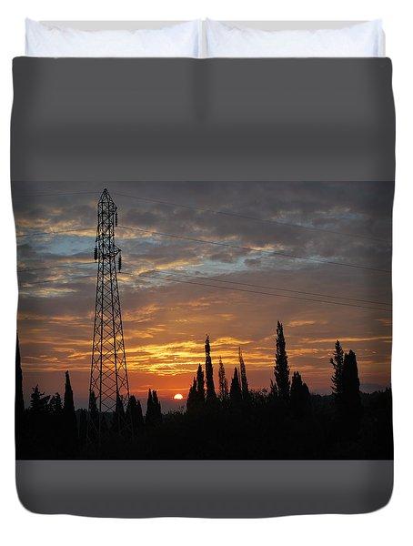 sunrise in Corfu 2 Duvet Cover