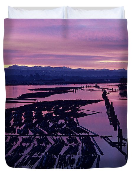 Sunrise Lumber Mill Duvet Cover