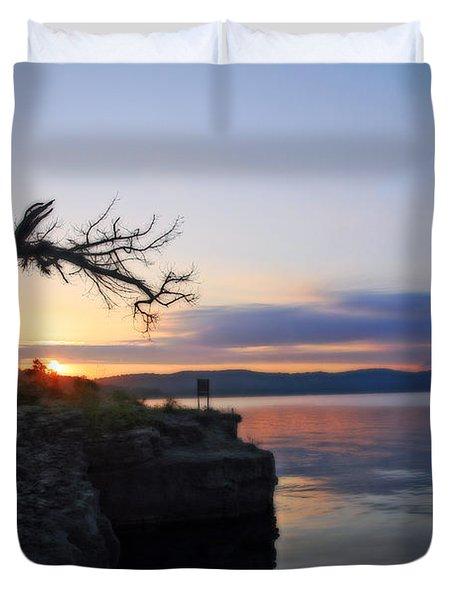 Sunrise Over Table Rock Lake Duvet Cover