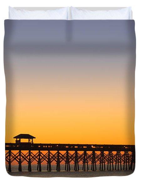 Sunrise Pier Duvet Cover