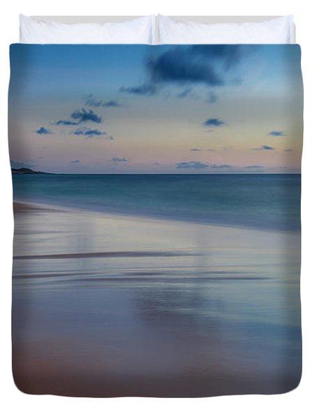 Sunset Above Papohaku Beach On Molokais Duvet Cover