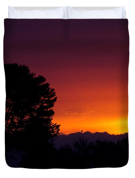 Duvet Cover featuring the photograph Sunset by Brian Williamson