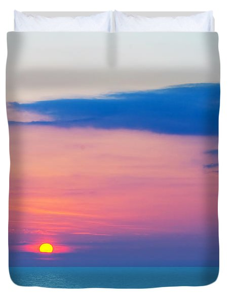 Sunset By The Sea Duvet Cover by Michal Bednarek