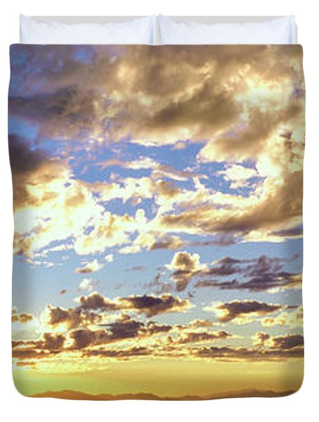 Sunset From The Rim Of Canyon De Chelly Duvet Cover