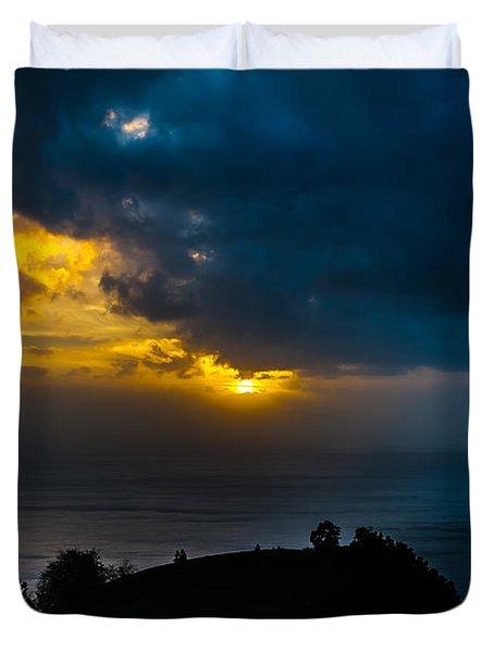 Sunset Over Blue Duvet Cover