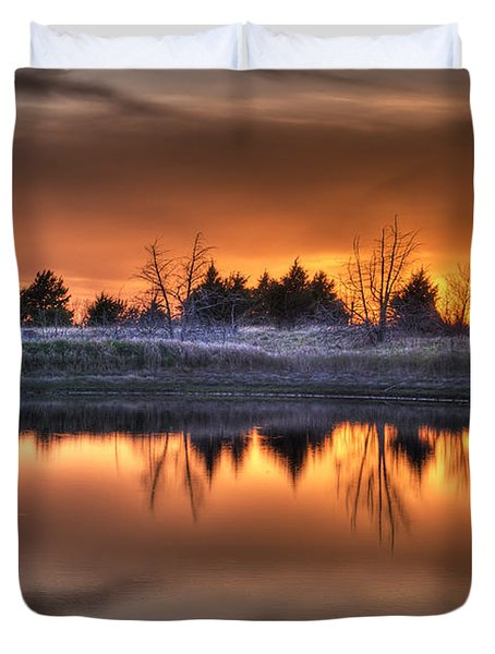 Sunset Over Bryzn Duvet Cover