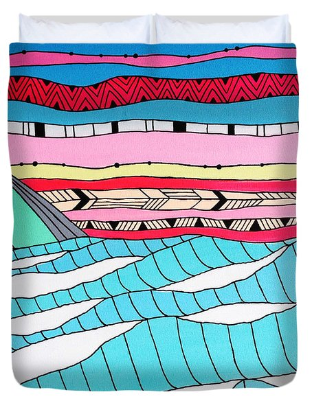 Sunset Surf Duvet Cover by Susan Claire