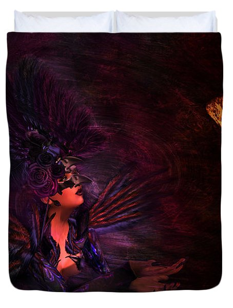 Duvet Cover featuring the digital art Supplication 06301301 - By Kylie Sabra by Kylie Sabra