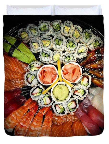 Sushi Party Tray Duvet Cover by Elena Elisseeva