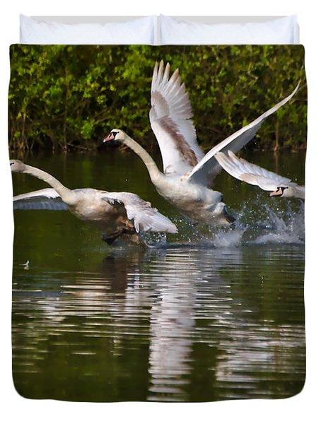 Swan Take-off Duvet Cover