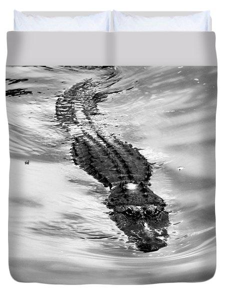 Swimming Gator Duvet Cover