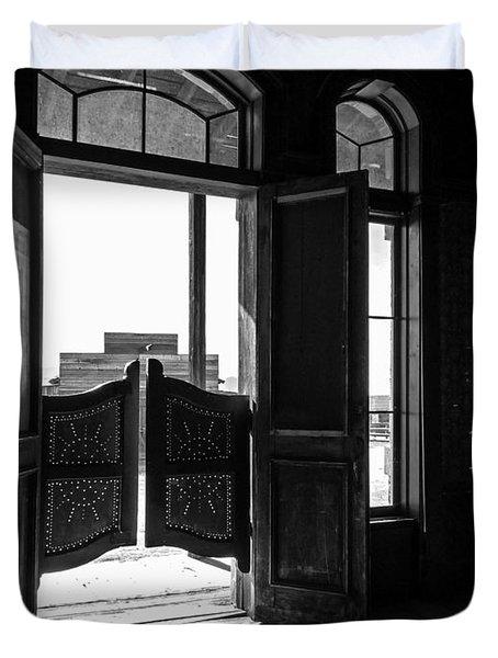 Swinging Doors Duvet Cover by Lucinda Walter
