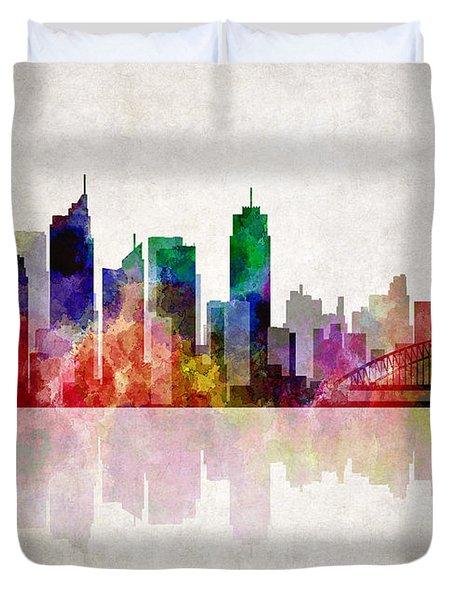 Sydney Australia Skyline Duvet Cover by Daniel Hagerman