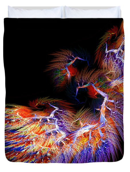 Symbol Of Fire Duvet Cover by Lourry Legarde