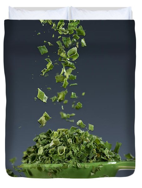 1 Tablespoon Chives Duvet Cover
