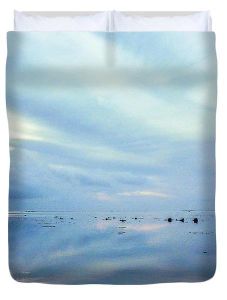 Tahiti At Sunset Duvet Cover