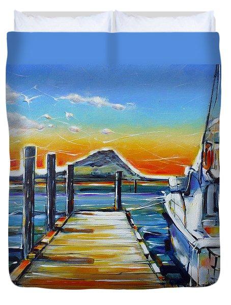 Tauranga Marina 180412 Duvet Cover by Selena Boron