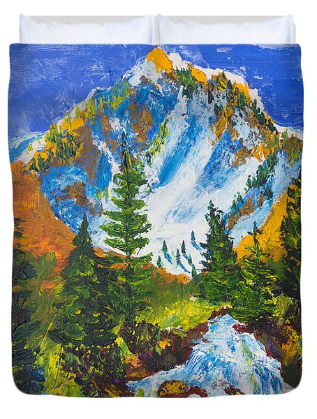 Taylor Canyon Run-off Duvet Cover
