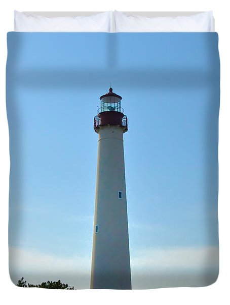 The Beacon Of Cape May Duvet Cover by Bill Cannon