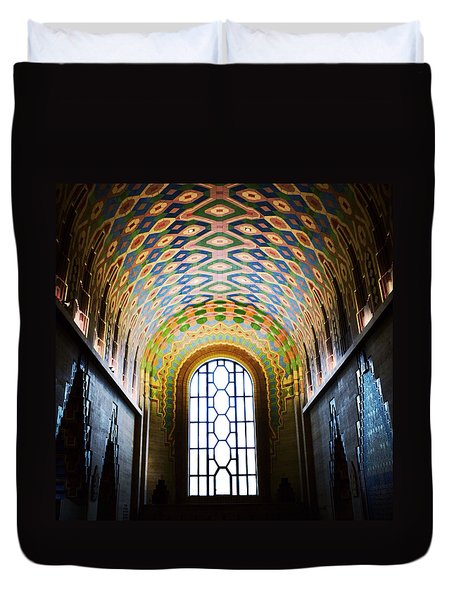The Cathedral Of Finance Duvet Cover