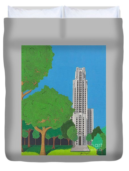 The Cathedral Of Learning Duvet Cover