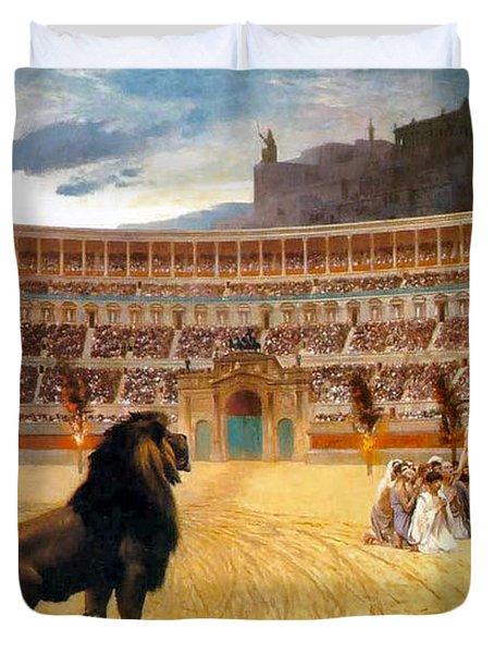 The Christian Martyrs' Last Prayer Duvet Cover by Jean Leon Gerome