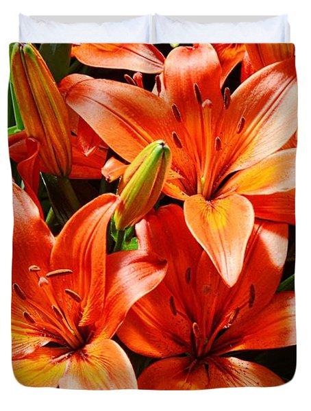 The Color Orange Duvet Cover