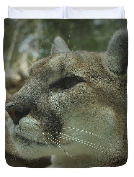 The Cougar 3 Duvet Cover by Ernie Echols