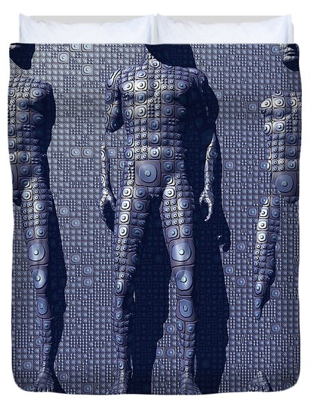 The Design And Construction Of Robots Duvet Cover by Mark Stevenson