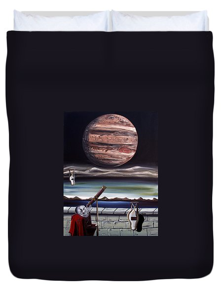 The Eternal Staring Contest Duvet Cover by Ryan Demaree