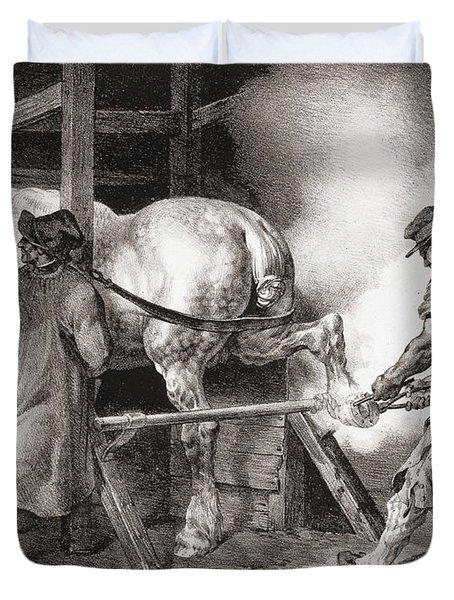 The Farrier, From Etudes De Cheveaux Duvet Cover