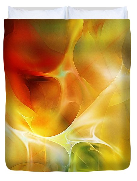 Duvet Cover featuring the digital art The Heart Of The Matter by David Lane
