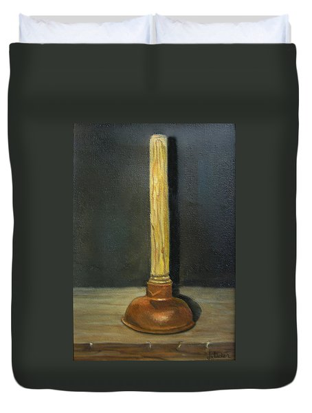 The Lone Plunger Duvet Cover by Donna Tucker