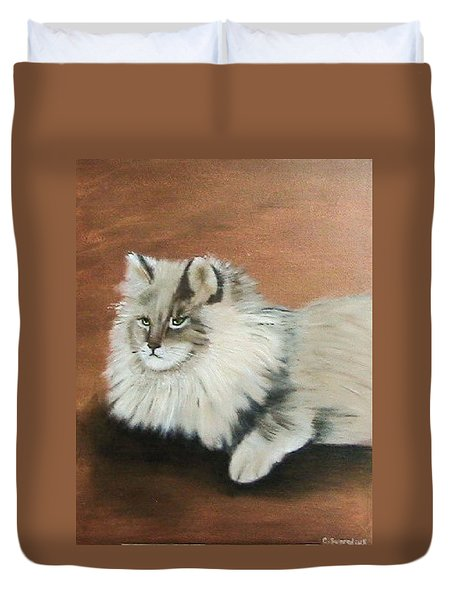 The Mane Cat Duvet Cover