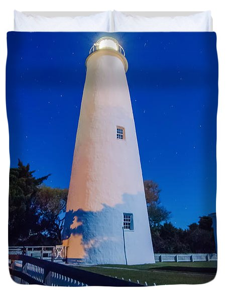 The Ocracoke Lighthouse On Ocracoke Island On The North Carolina Duvet Cover