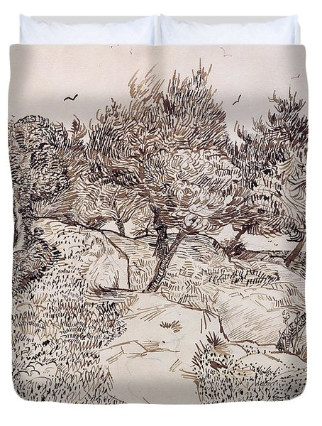 The Olive Trees Duvet Cover by Vincent Van Gogh