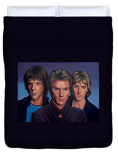 The Police Duvet Cover by Paul Meijering